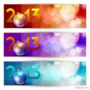 New Year banner03 Vector material