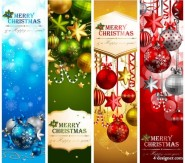 The exquisite Christmas theme elements 08   vector material