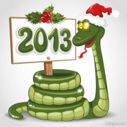 2013 Year of the Snake greeting card background image 01