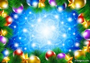 Brilliant shining Christmas background 01   vector material