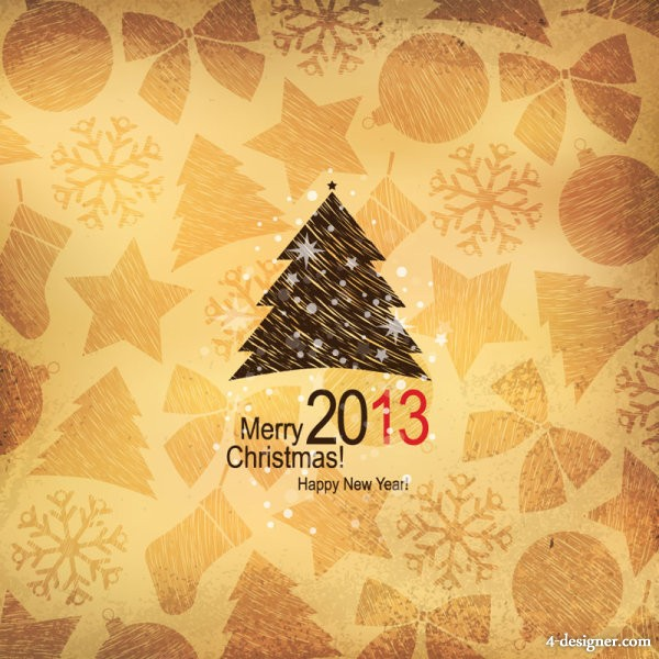 Christmas background vector material 02   vector material