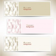 Elegant Christmas greeting cards and banners 05   vector material