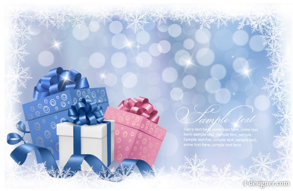 Exquisite Christmas gift box background   Vector