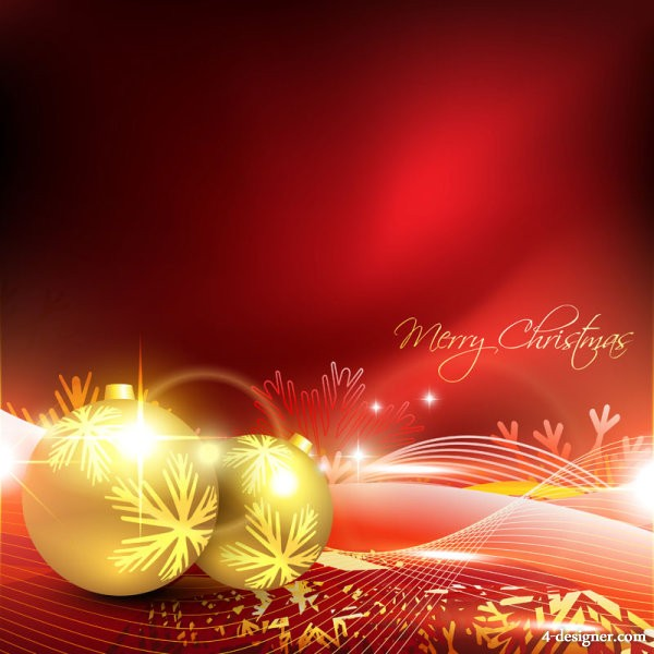Gorgeous Christmas background 02   vector material