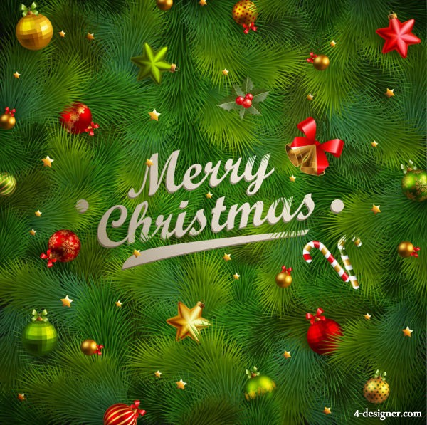 Gorgeous Christmas elements 04   vector material