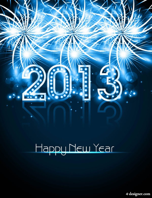 Gorgeous New Year greeting card Vector   Vector