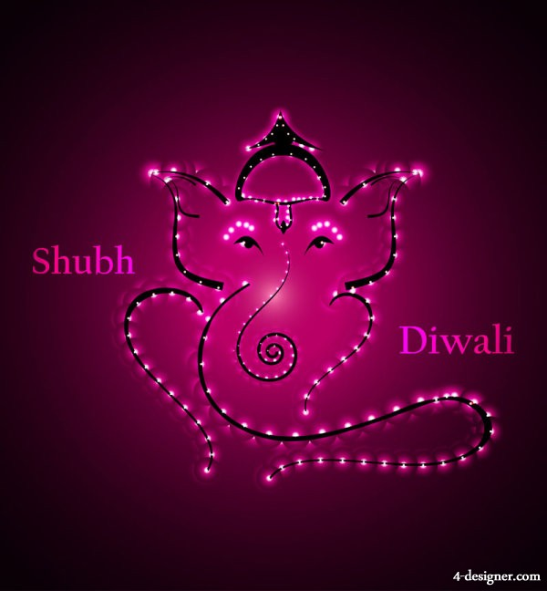 The exquisite theme Diwali 25   vector material