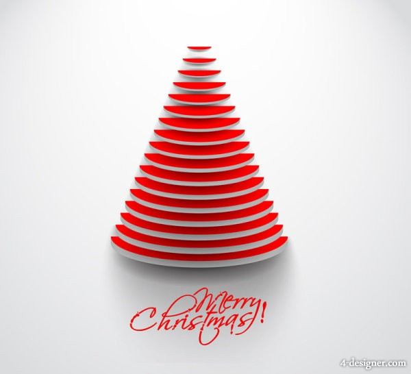 Vector creative Christmas tree 02   vector material