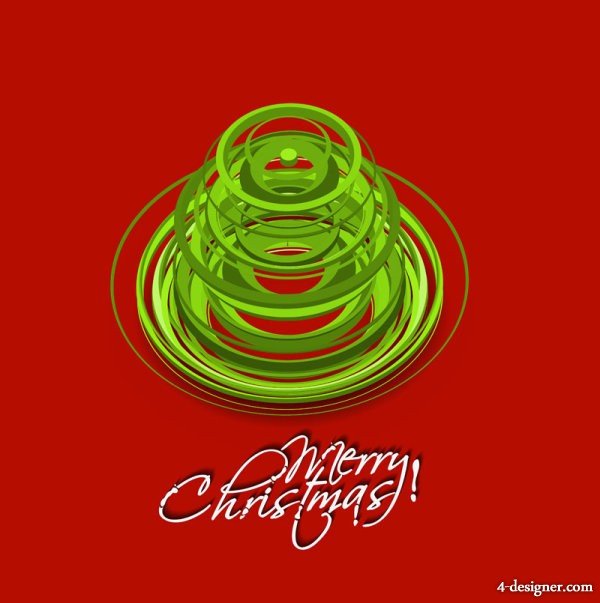 Vector creative Christmas tree 08   vector material