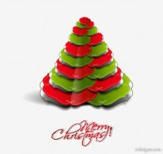 Vector creative Christmas tree 13   vector material