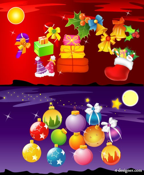 Christmas element vector material