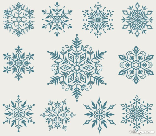 Christmas snowflakes background Vector 05   Vector