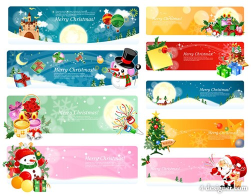 Christmas theme Banner Vector
