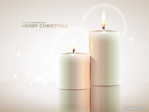 Exquisite candles   vector material