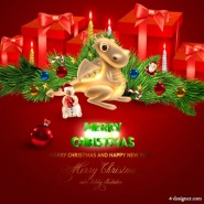Gorgeous Christmas Christmas background 02   vector material