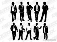All types of men vector material
