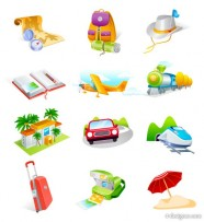 Cool the Travel Goods vector icon material