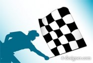 F1 race judge silhouette, banner vector material