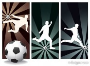 Football figures silhouette vector material