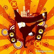 HipHop theme vector material