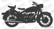 Motorcycle silhouette vector material