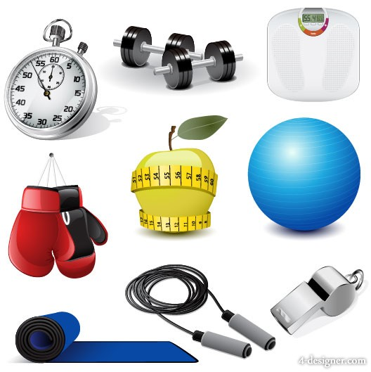 Sports Equipment 03   vector material