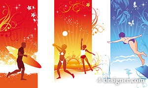 Summer cool vector material