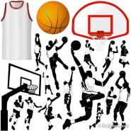 The basketball elements of theme vector material