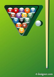 The billiard motion vector material
