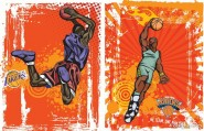 Trend basketball vector material