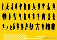 Various figures silhouette vector material