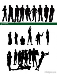 Vector People silhouette