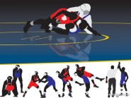 Wrestling motion vector material