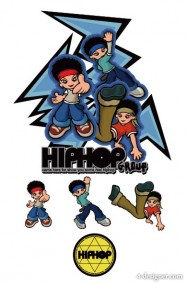 Cartoon hip hop character role vector material