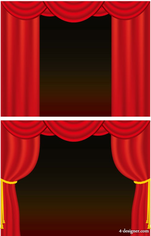 Curtain vector material