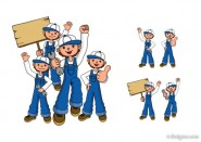 Repair personnel figures vector material