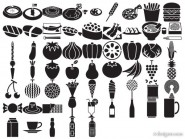 Silhouette element vector material   Food and Drink