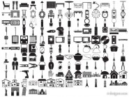 Silhouette element vector material   lifestyle (145 elements)