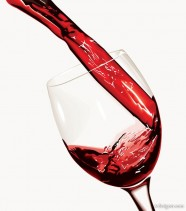 The inverted wine instantly Vector