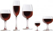 Vector red wine glasses