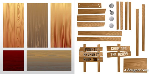 Wood plank vector material