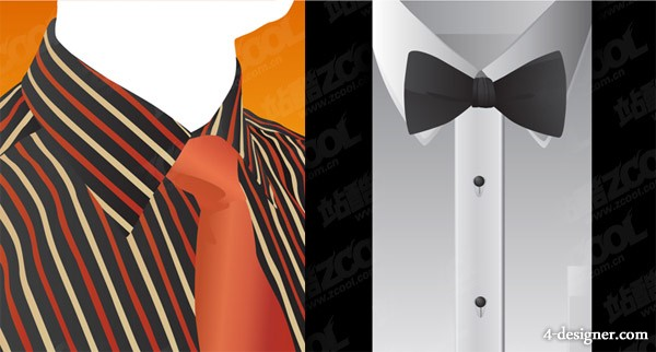 The tie shirt vector material