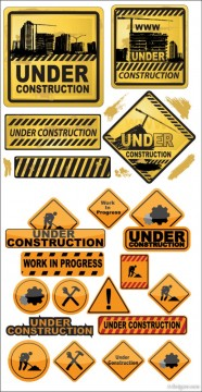 Building and construction icons vector material