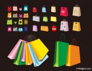 Environmentally friendly bags vector material for a variety of colorful Bag
