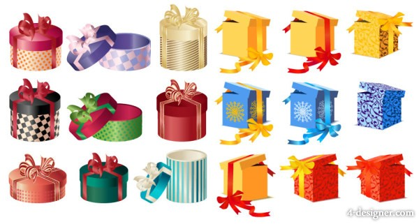 Gift gift box vector material