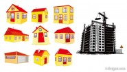 House building vector material