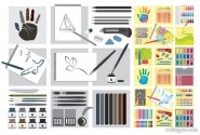 Painting tools vector material