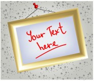 Photo frame, message boards, whiteboard Vector