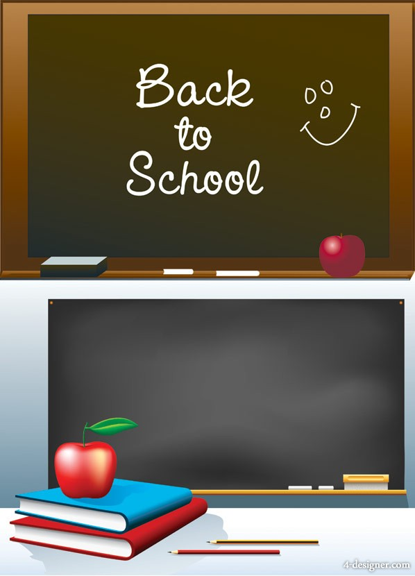 School theme vector material