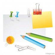 Stationery vector material